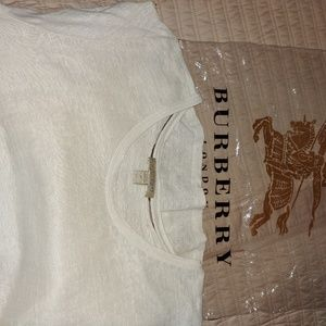 Burberry EUC linen t-shirt sz XL